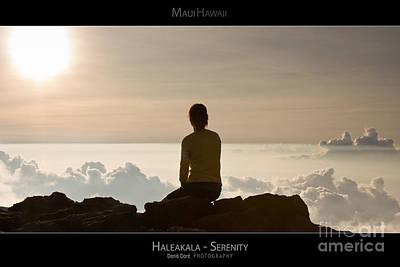 Hawaii Photograph - Haleakala Sunset - Serenity - Maui Hawaii Posters Series by Denis Dore