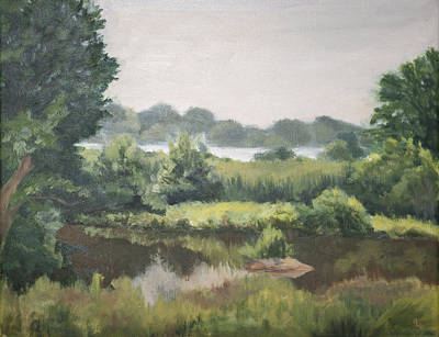 Haley Farm Pond Art Print by Elena Liachenko