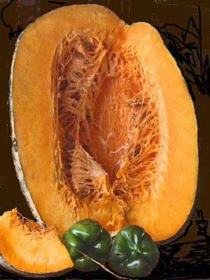 Photograph - Half A Caribbean Pumpkin by Ian  MacDonald