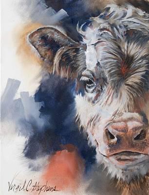 Virgil C Stephens Painting - Half Calf by Virgil Stephens