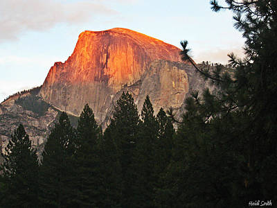 Photograph - Half Dome Alpenglow by Heidi Smith