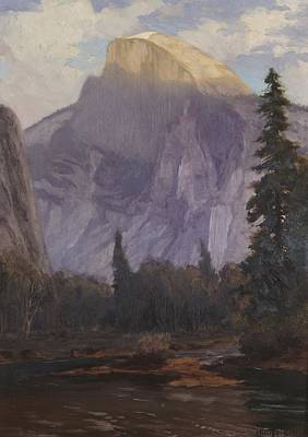 Sunlit Tree Painting - Half Dome by Christian Jorgensen