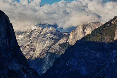 Half Dome In The Clouds Art Print by Rick Berk
