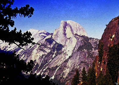 Half Dome Painting - Half Dome Landscape by David Lee Thompson