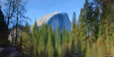 Photograph - Half Dome Reflection - Reflection Only by Heidi Smith