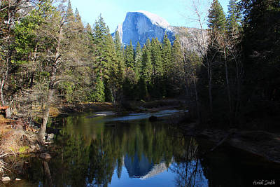 Photograph - Half Dome Reflection In The Merced by Heidi Smith