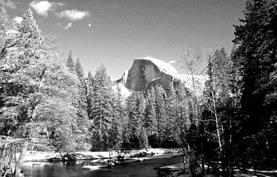 Photograph - Half Dome With Snow by Eric Tressler