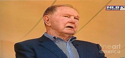 Photograph - Hall Of Famer Red Schoendienst by Barbara Plattenburg