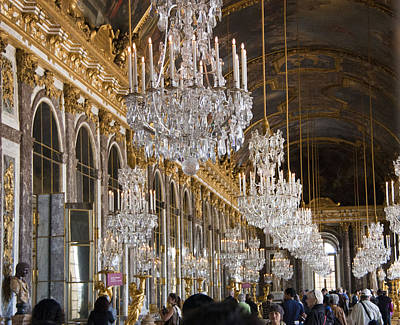 Hall Of Mirrors At Palace Of Versailles France Art Print by Jon Berghoff