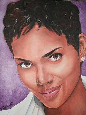 Portraits By Timothe Painting - Halle Berry by Timothe Winstead