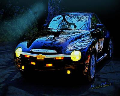 Hallow Weenie Chevy Ssr Art Print by Chas Sinklier