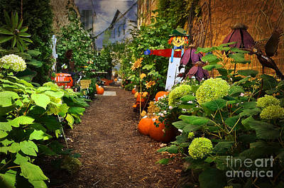 Halloween Alley Art Print by Mary Machare
