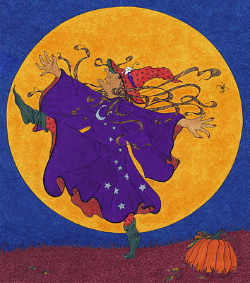 Drawing - Halloween Dance by Michele Sleight