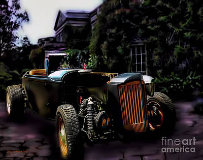Haunted Mansion Mixed Media - Halloween Deuce Coup by Jerry L Barrett