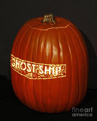 Pumpkin Photograph - Halloween Ghost Ship Pumpkin by Nina Prommer