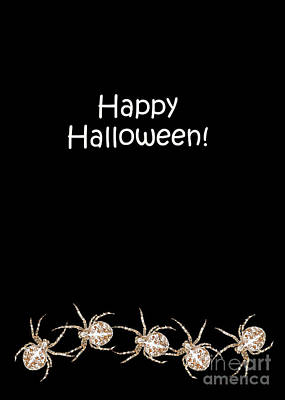 Digital Art - Halloween Greetings. Spider Party Series #03 by Ausra Huntington nee Paulauskaite