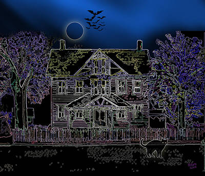Painting - Halloween Haunt by Clara Sue Beym