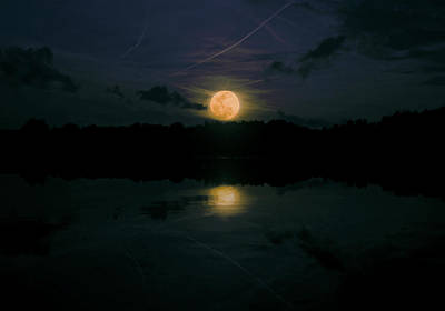 Briex Photograph - Halloween Moonset 2012 by Nop Briex