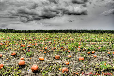 Halloween On Johnson's Corner Farm Art Print