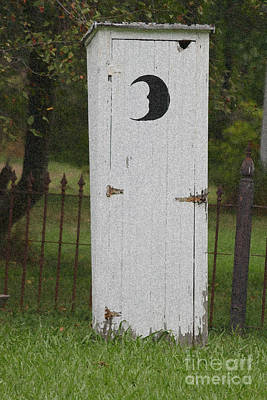Photograph - Halloween Outhouse by Marilyn West