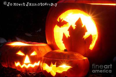 Photograph - Halloween Pumpkins by Jo