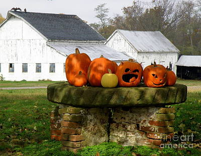 Art Print featuring the photograph Halloween Scene by Lainie Wrightson