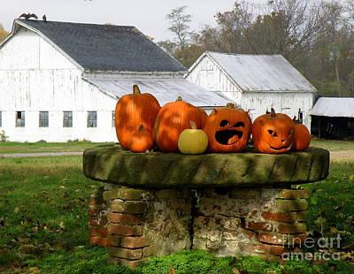 Halloween Scene Art Print by Lainie Wrightson