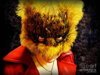 Photograph - Halloween Self Portrait by Joan  Minchak