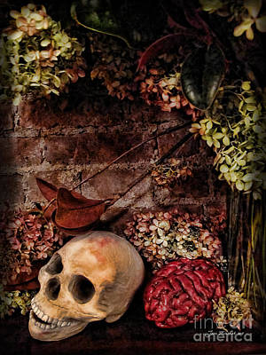 Halloween Still Life Art Print by Joan  Minchak