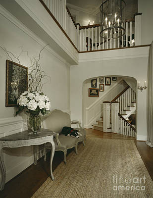 Upscale Photograph - Hallway In Upscale Home by Robert Pisano