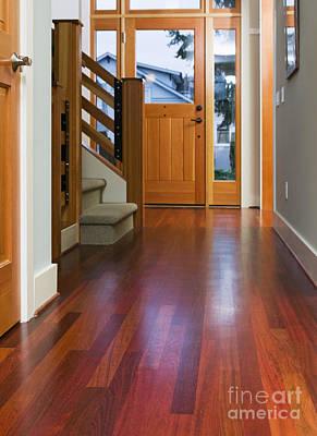 Hallway To Front Door Print by Andersen Ross