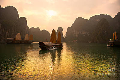 Art Print featuring the photograph Halong Bay - Vietnam by Luciano Mortula