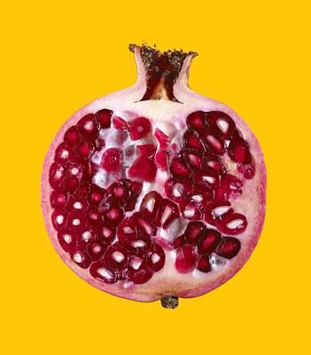 Halved Pomegranate Art Print by Mark Sykes