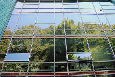 Digital Art - Hamburg Building Reflection by Eva Kaufman