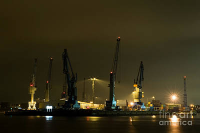 Photograph - Hamburg By Night by Jorgen Norgaard