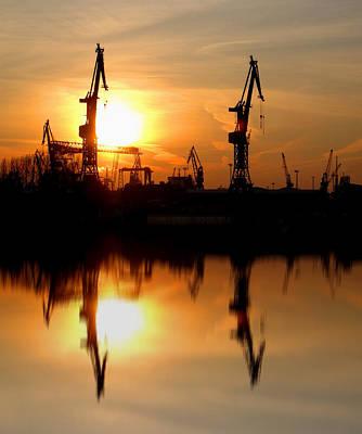 Art Print featuring the photograph Hamburg Docks by David Harding