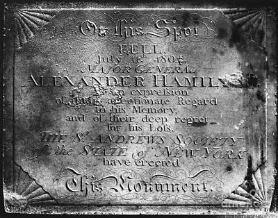 Confession Photograph - Hamilton: Pamphlet, 1797 by Granger