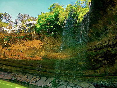 Pyrography - Hamilton Pool by Amber Hennessey