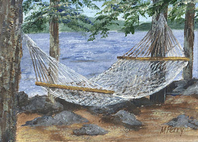 Hammock At Bear Island Art Print