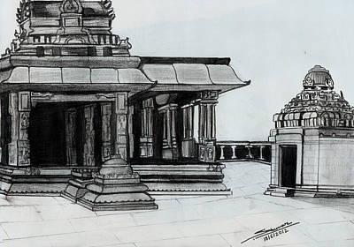 Hampi Stone Structure 2 Art Print by Shashi Kumar