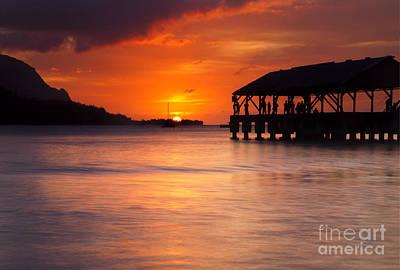 Hanalei Pier Original by Mike  Dawson