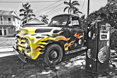 Hanapepe Truck - Yellow Highlights Art Print