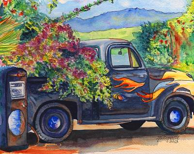 Truck Painting - Hanapepe Truck by Marionette Taboniar