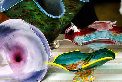 Photograph - Hand Blown Glass 3 by Scott Hovind