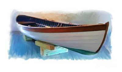 Hand Crafted Boat Painting Art Print by Earl Jackson