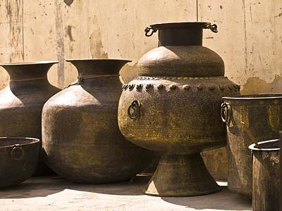 Hand Crafted Photograph - Hand Crafted Jugs, Jaipur, India by Keith Levit