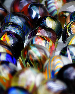 Photograph - Hand Crafted Marbles by Scott Hovind