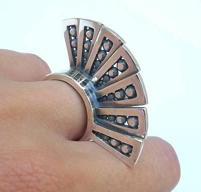 Sterling Silver Rings Jewelry - Hand Fan Ring by Teresa Arana