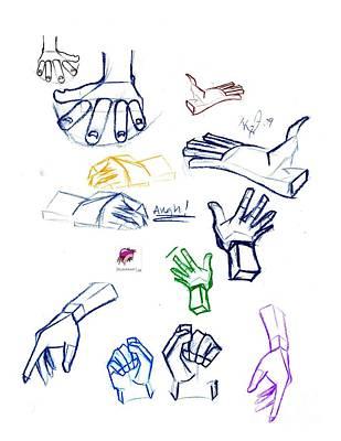 Drawing - Hand Study by Carol Rashawnna Williams