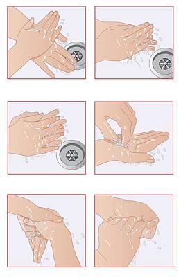 Hand Washing Photograph - Hand Washing, Artwork by Peter Gardiner